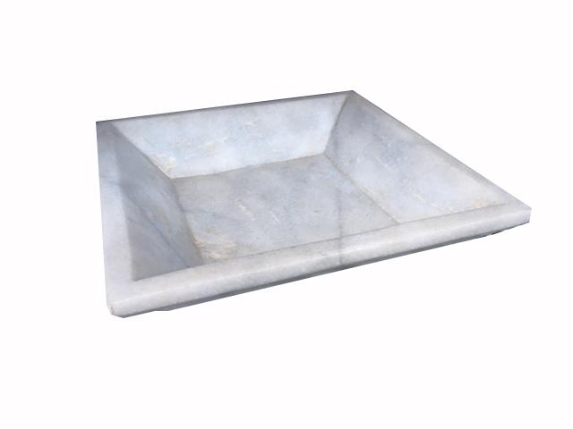 Plat marbre carré